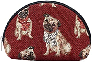 Signare Tapestry Cosmetic Makeup Toiletry Bag Case in Pug Dog (COSM-Pug)