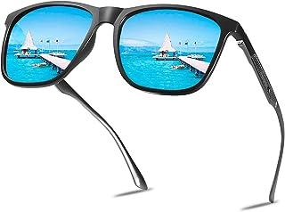 MUCO Polarizado Unisex Gafas De Sol Lente De Espejo De Conducción Protección UV Con Estuche Marca