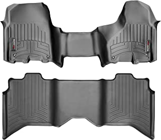 WeatherTech Custom Fit FloorLiner for Ram Truck 1500/2500/3500-1st Row Over-The-Hump & 2nd Row (Black)