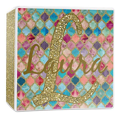 Glitter Moroccan Watercolor 3-Ring Binder - 2 inch