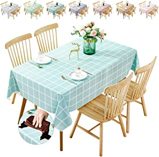 Waterproof Tablecloth,Oilproof, Wipeable,Stain-Resistant PVC Table Cloth,Wipe Clean Table Cover for Dining Table, Buffet P...