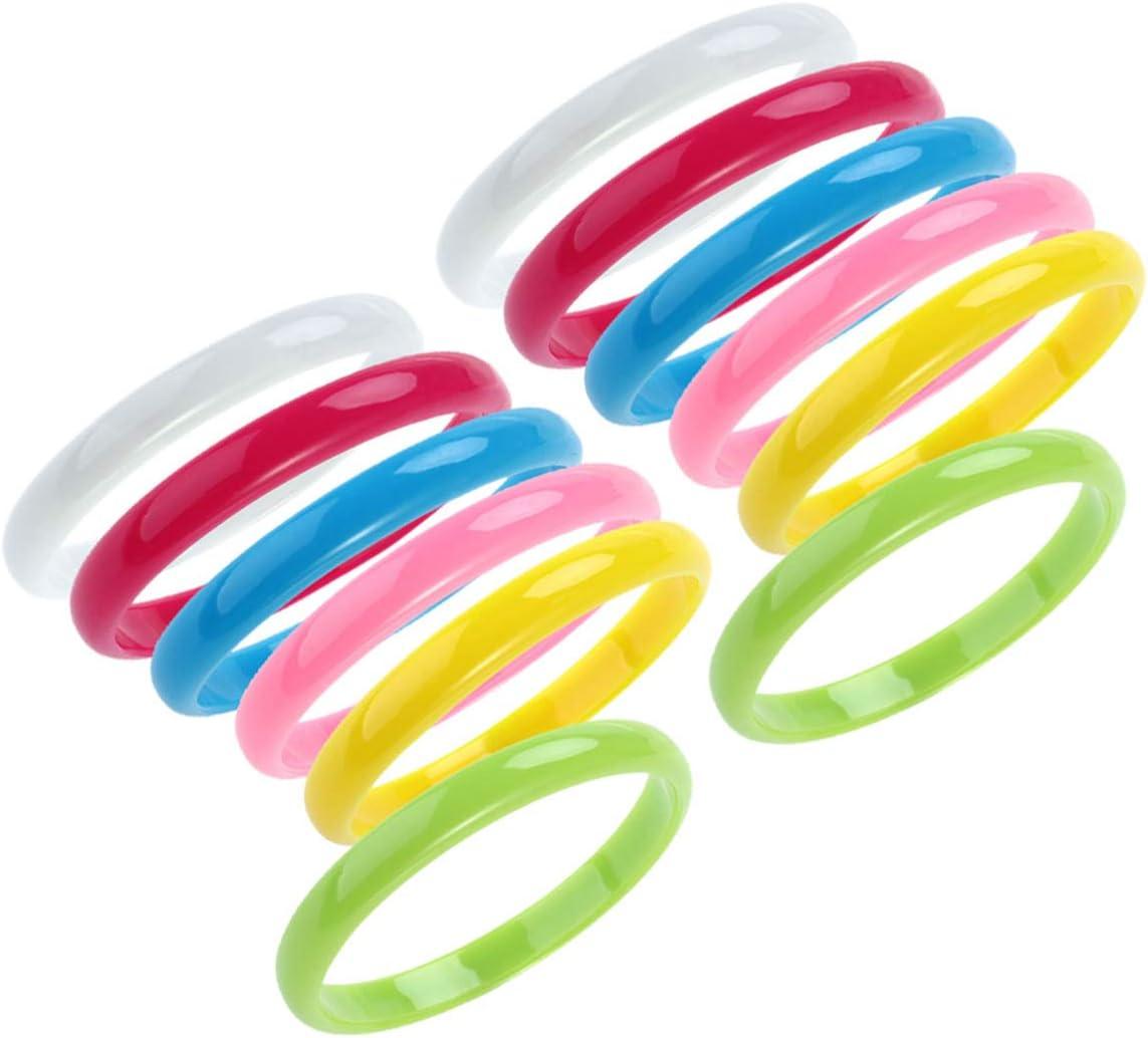 NUOBESTY Plastic Bangle Bracelets Candy Fav Color Popular shop is the lowest price challenge Party Bracelet Fashion