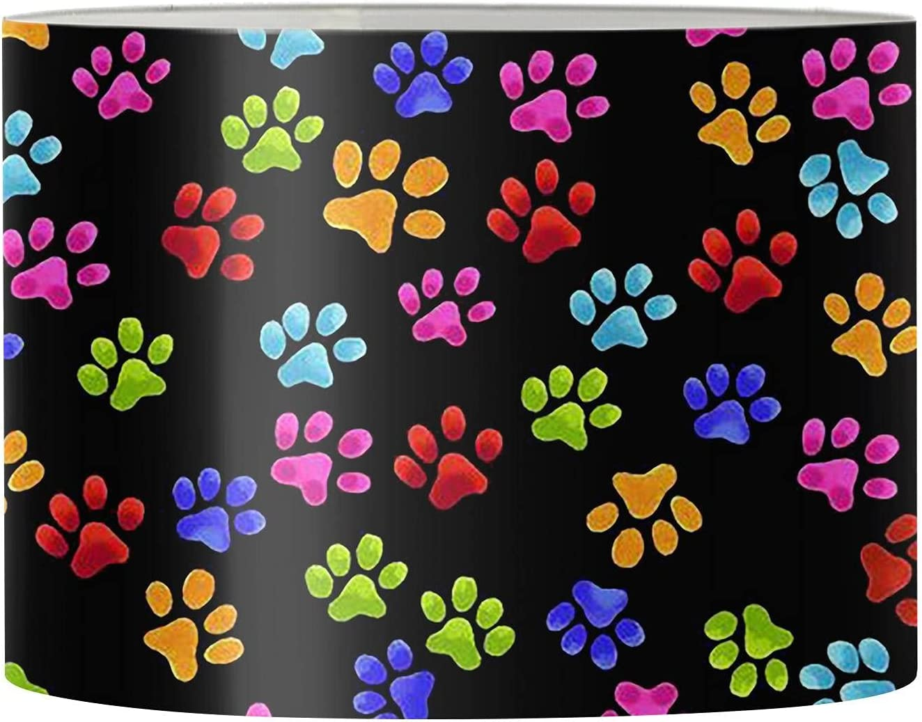 whjfdc Modern Lamp Shade Table Lamps Meta Print Ranking TOP11 Colorful Paw Dog New products world's highest quality popular