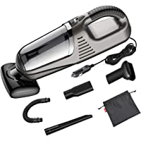 Ainope 12-Volt Handheld Car Vacuum Cleaner with 4M (13ft) Long Power Cord Multifunctional Automotive/Auto Vacuum for Car (Gray)