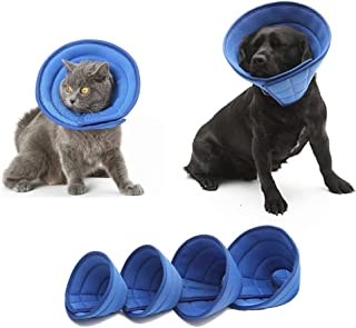 KnocKconK Breathable Mesh Elizabethan Collar, Blue Soft Comfy Adjustable E-Collar, Quicker Healing Pet Recovery Cone, Soft Edges ,Anti-Bite/Lick for Small Medium Dog, Cat, Rabbit.