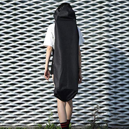YOUNICER 120cm Lange Skateboardtasche Oxford Stoff Skateboardtasche Skateboard Tragetasche Schulter Reise Longboard Rucksack Skateboard Tasche auf Vier Rädern