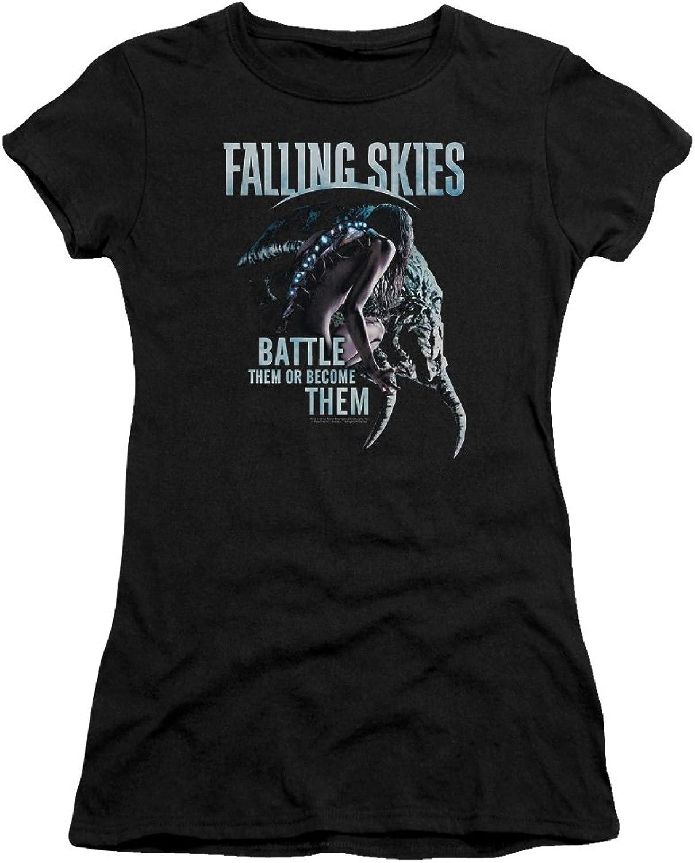 Falling Skies  Juniors Battle Or Become Premium Bella TShirt