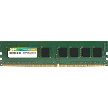 シリコンパワー デスクトップPC用メモリ DDR4-2400(PC4-19200) 8GB×1枚 288Pin 1.2V CL17 永久保証 SP008GBLFU240B02