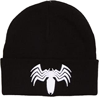 Marvel Comics Venom Spider-Man Logo Cuffed Adult Beanie Black