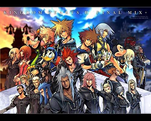 Puzzle 1000 Piezas,Videojuego Kingdom Hearts para Adultos NiñOs, Educational Game para Aliviar EstréS Juego Intelectual, Navidad Juguete De Regalo Ideal 75x50CM