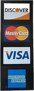 Visa/MC/Amex/Discover Visa/MasterCard/American Express/Discover Decal