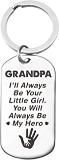 Grandpa Love Quotes Stainless Steel Key Chain Ring,Best Grandfather Dad Father's Day, Grandpa Birthday Gifts from Granddau...