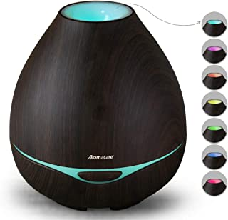 Essential Oil Diffuser 300ml for Aromatherapy, Diffusers for Essential Oils-Ultrasonic Aroma Diffuser Cool Mist Humidifier-Dark Wood-Sooth Night Light- Quiet for Bedroom, Home&Large Rooms