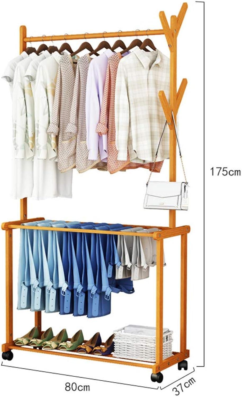 Simple Coat Rack,Hall Tree Entryway Storage Shelf,Storage Rack with Shelf Garment Rack Free Standing Easy Assembly-F 80x37x175cm(31x15x69inch)