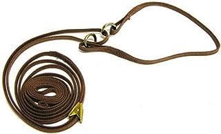 Resco Professional Cordo-Hyde Martingale Dog Show Lead, 3/16 x 42-Inch Long, Mahogany