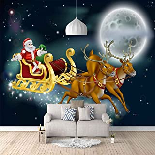 VITICP Adults Kids Wall Stickers Decals Peel and Stick Removable Wallpaper Cartoon Santa Claus for Nursery Bedroom Living ...