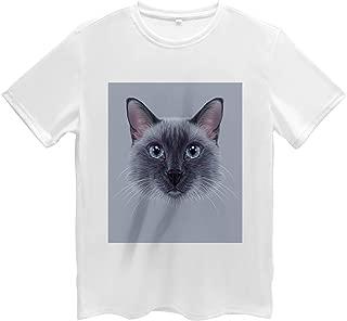 Animal Men's T Shirt, Siamese Cat Portrait, Short Sleeve Tee