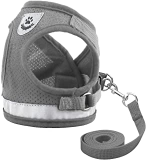 Dog Harness for Chihuahua Pug Small Medium Dogs Nylon Mesh Puppy Cat Harnesses Vest Reflective Walking Lead Leash Petshop ...