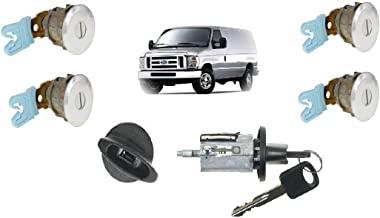 Ford Econoline Van (E150~E250~E350) Keyed Door Locks & Keyed Ignition Switch Cylinder Lock Set For Cargo & Club Wagon Passenger Van 1997-2012
