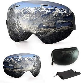 f86dd62f06 WLZP Gafas de esquí,Gafas de esquí magnéticas Intercambiables con 2 Lentes  de Modelado,