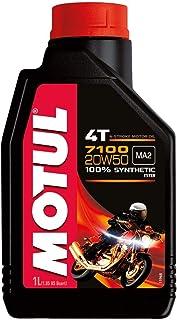 7100 4T Synthetic Ester Motor Oil by Motul, Viscosity 20W50, 104103
