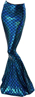 Guiran Womens Mermaid Costume Fancy Halloween Dress Sequins Fish Tail Outfit Tail Skirt Maxi Skirt