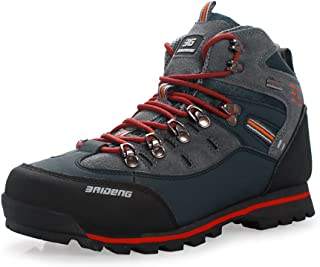 GOMNEAR Hiking Boots for Men Lightweight Outdoor Trail Trekking Shoes Plus Size Walking Camping Travel