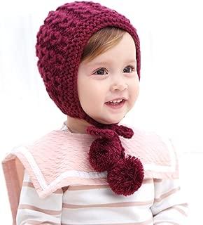 Winter Children Hat Newborn Baby Infant Pure Wool Warm Earflap Hand-Knit Hat Toddler Knitted Crochet Pilot Cap Cute Beanie