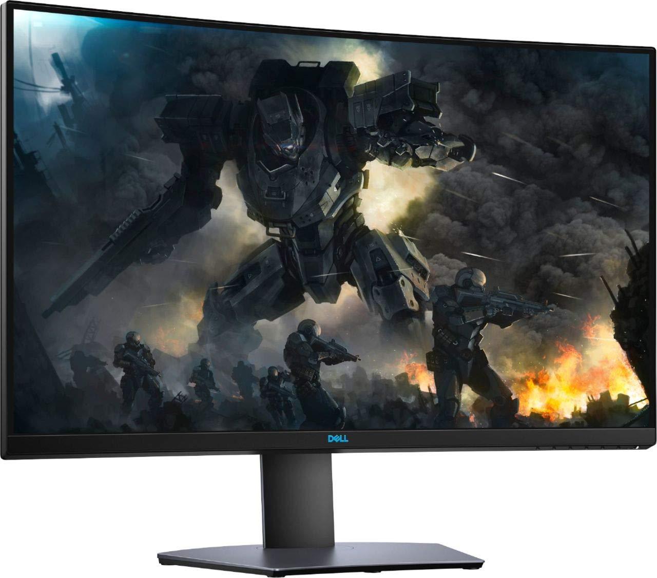 Dell - Monitor de 32 pulgadas LED curvado QHD FreeSync con HDR 2K Quad HD 2560 x 1440 Resolución 16:9 relación de aspecto DisplayPort HDMI: Amazon.es: Electrónica