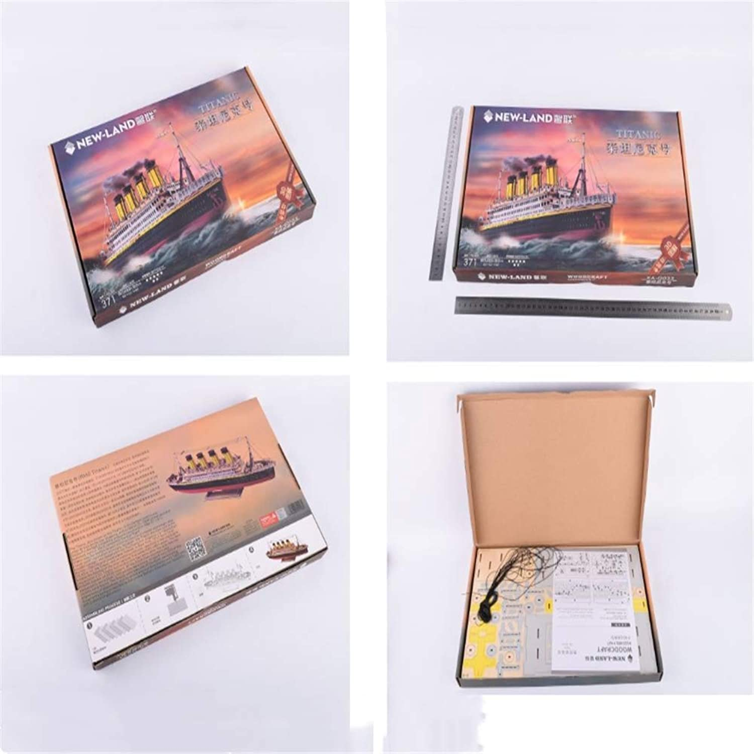 Nuoyi Titanic 3D Puzzle (Multicolor Accessories) Board Model Kit Manual 3D Puzzle Jigsaw Refined Development Intelligence Investing Interest