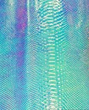 Fabric Empire Vinyl Upholstery Embossed Snake Holographic Glossy Fabric Light Blue 54' Wide Sold by The Yard