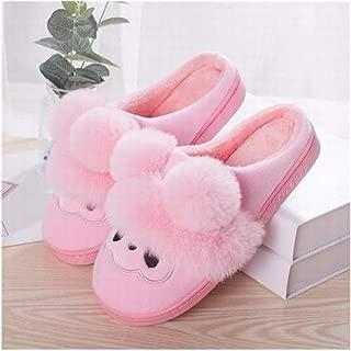 Allabout-u - Zapatillas de Invierno de Piel cálida, Color Gris, Zapatillas de Interior Rosas y Casuales