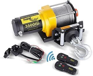 RUGCEL Winch 12V Electric ATV Winch 2 Remote Wireles Control Steel Cable Boat ATV Kit (3500 LBS)
