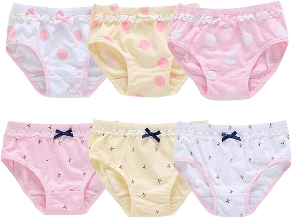 Orinery Baby Underwear Cotton Toddler Girls Assorted Briefs 6-Pack