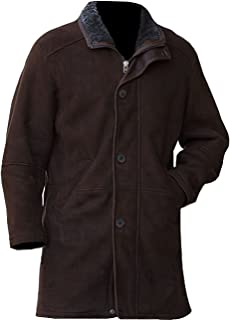 CHICAGO-FASHIONS Robert Mire Sheriff Jacket Long Suede Leather Trench Coat