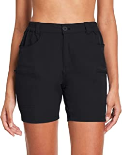 Willit Women's Hiking Cargo Shorts Stretch Active Shorts Summer Shorts Water Resistant Pockets 5 inches