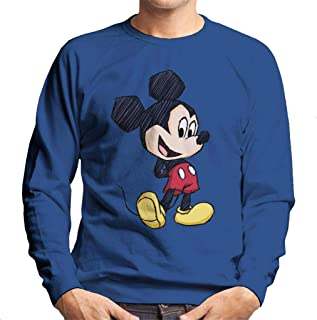 Disney Mickey Mouse Big Head Sketch Men's Sweatshirt