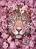 Kits de pintura de bricolaje por números pintura acrílica por números para adultos flor leopardo pared moderna decoración del hogar A12 50x65cm