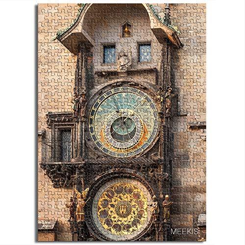 CELLYONE MEEKIS Kinderpuzzle 1000 Stück Prager Astronomische Uhr Lernspiele, Puzzle für Kinder