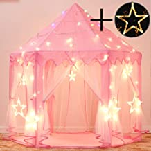 Sumbababy Princess Castle Tent for Girls Fairy Play Tents for Kids Hexagon Playhouse with..