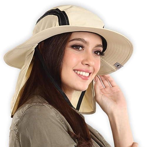 Tough Headwear Outdoor Boonie Sun Hat - UPF 50 Protection for Men   Women.  Wide 2c9737969ac9