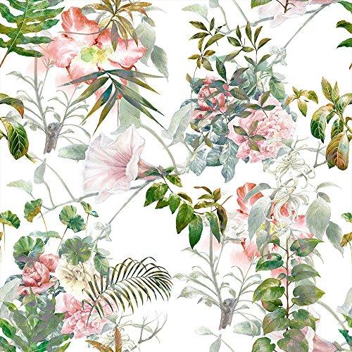 murando Papel Pintado 10 m Flores Hojas Fotomurales tejido no tejido rollo Decoración de Pared decorativos Murales XXL moderna de Diseno Fotográfico - Naturaleza b-B-0318-j-a