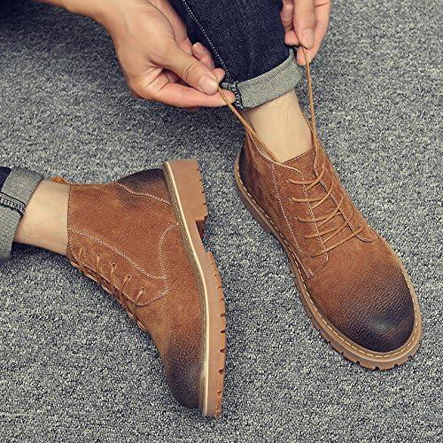 HL-PYL - Retro Martin Stiefel und Stiefel Stiefel Stiefel für Martin Schuhe und Stiefel, 40, gelb  Schnelle Lieferung