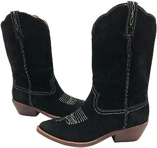 Patricia Nash Womens Bergamo Leather Pointed Toe Mid-Calf, Black, Size 7.5