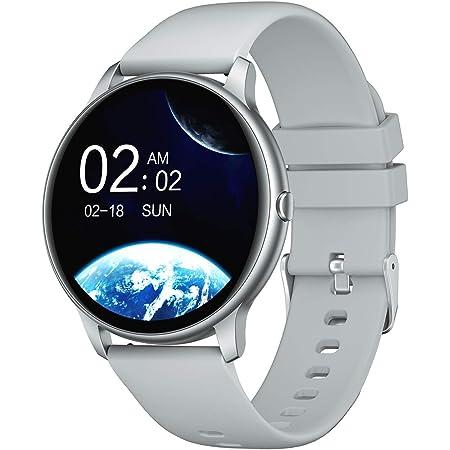 YAMAY Smartwatch Donna Uomo Orologio Fitness Cardiofrequenzimetro da Polso Smart Watch Activity Tracker Contapassi Conta Calorie Cronometro Centinaia di Quadranti Impermeabile IP68 per iOS Android