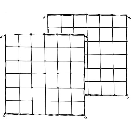 Shappy 2 Pieces Flexible Net Trellis for Grow Plant Tents 2 x 2 Feet to 3 x 3 Feet Grow Plant Tent Net Elastic Trellis Netting with Hooks
