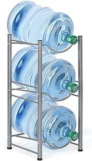 3-Tier Water Bottle Holder Cooler Jug Rack, 5 Gallon Water Bottle Storage Rack Detachable Heavy Duty Chrome Water Bottle Cabby Rack Caddy Carrier with Holder