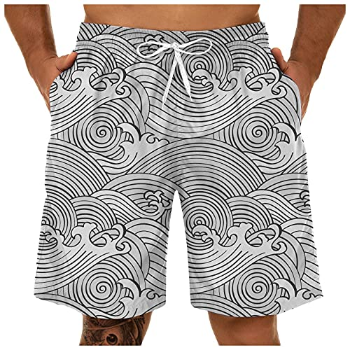 Shorts for Men Large Size Leaf 3D Printed Trousers Breathable Fashion Short Pants Summer Casual Loose Sports Shorts