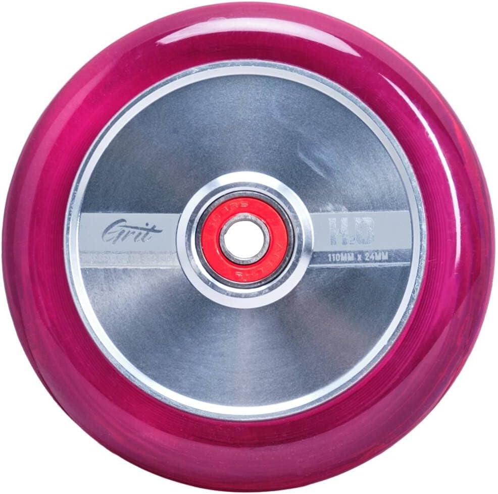 Grit H2O Stunt Scooter - Rueda para patinete (110 mm), color plateado y rosa claro