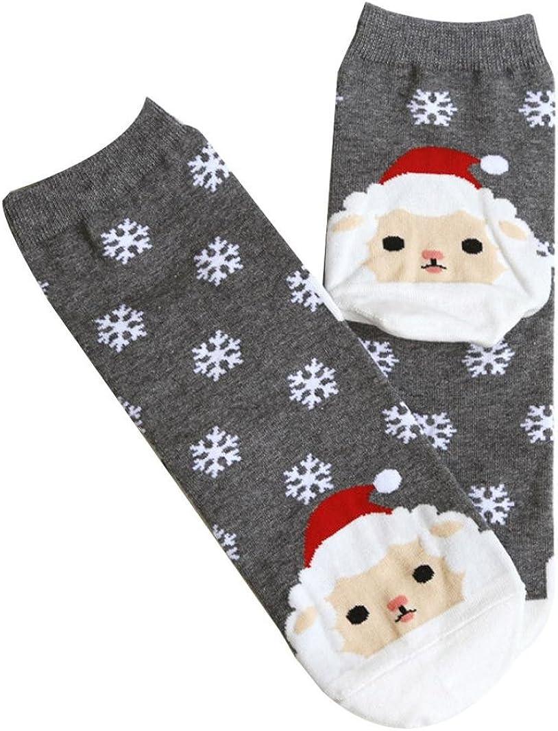 SunshineFace 1 Paar Weihnachtssocken Schneeflocken-Socken Eltern-Kind-Weihnachtsbaum gek/ämmte Baumwolle